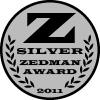 Site badge / web badge; website graphic to show receiving a Zedman Award.
